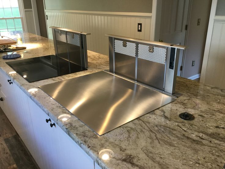 164 best images about kitchen island on pinterest for Stove top with built in vent