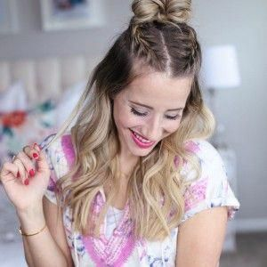 Braided Top Knot x2 #twoBraided #braidedtopknots Braided Top Knot x2 #twoBraided…