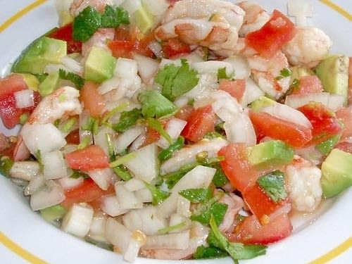 Mexican Ceviche Recipe  (ohhh mama! This is so good!)  SERVES 4 -6  · 1 lb Shrimp (you can use ½ halibut and shrimp for more authenticity, ...