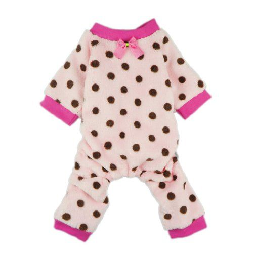 Adorable Pink Pet Dog Pajamas for Dog Winter Coat Clothes Jumpsuit, Small - http://www.thepuppy.org/adorable-pink-pet-dog-pajamas-for-dog-winter-coat-clothes-jumpsuit-small/