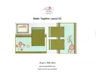 Better Together Layout Kit by Scrap'n With Flair