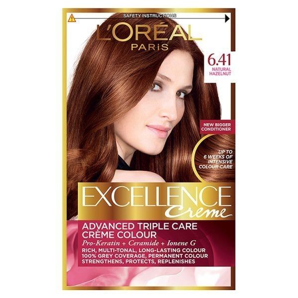 Excellence Creme 6 41 Natural Hazelnut Hair Dye Superdrug Con