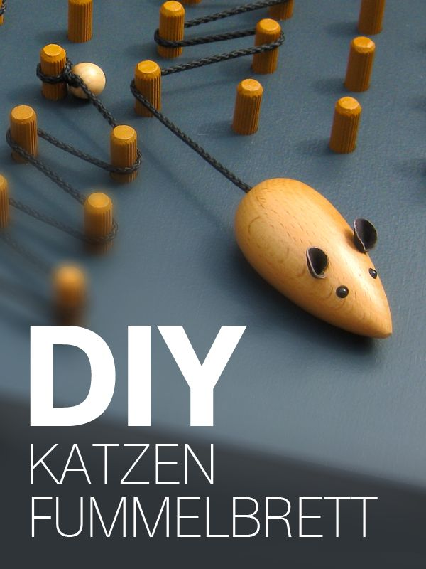 Bauanleitung für ein DIY Katzen Fummelbrett aus Holz