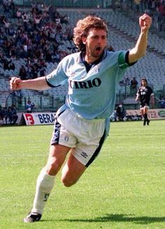 """Giuseppe """"Beppe"""" Signori born 17 February 1968 in Alzano Lombardo, Bergamo) is a retired Italian footballer, who played as a forward. Signori was a fast, left footed striker, who was a prolific goalscorer, due to his powerful, accurate shot. He was also an accurate set piece and penalty-kick taker, and was notable due to his tendency to take set pieces and penalties without taking a run-up."""