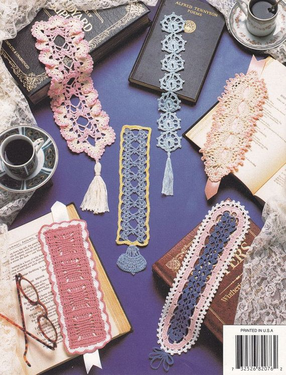 Beautiful Bookmarks Crochet Patterns 12 Thread by PaperButtercup