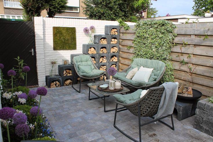 Trommelsteen kleur grijs zwart genuanceerd u elementen als houtopslag verhoging voor - Lounge warme kleur ...