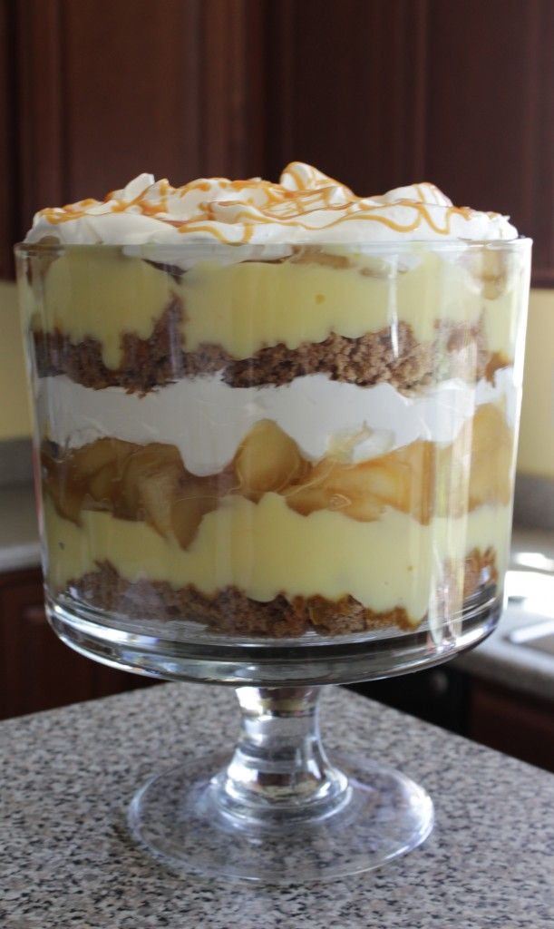 Delicious looking Caramel Apple Trifle. But I would probably make my own whipped cream