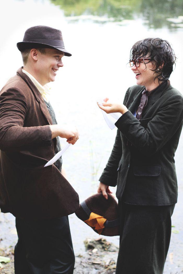 Paret återskapade scenen från '101 dalmatiner' i sina förlovningsfoton. Resultatet? Otroligt gulligt!