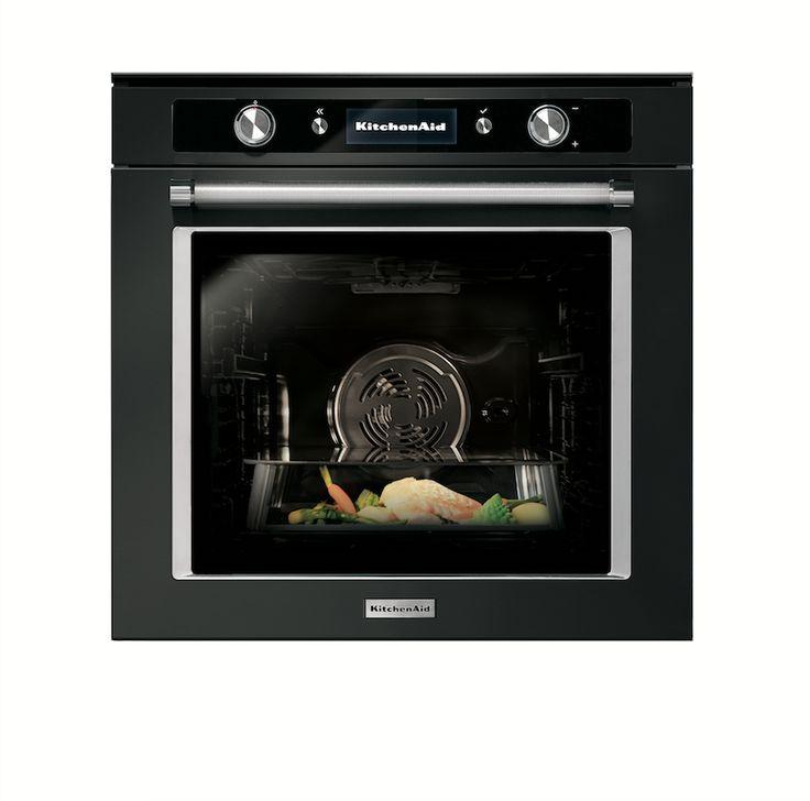 KitchenAid Twelix oven black steel - Product in beeld - Startpagina voor keuken ideeën | UW-keuken.nl