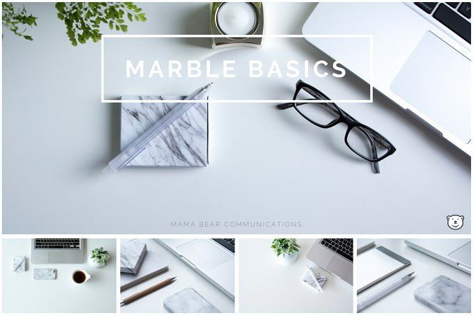 Styled Stock Photos | Marble Basics by mamabearcomms on @creativemarket