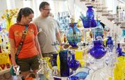 Blenko Glass Company makes beautiful hand blown glass pieces. You can view glassmaking in progress Monday-Friday, with tours available as well. A great place to buy unique West Virginia glass pieces to collect or give as gifts.