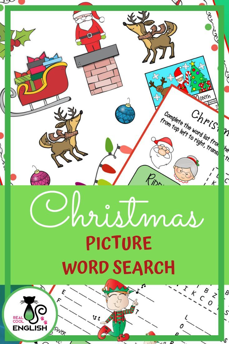 Christmas Puzzle Picture Word Search Holiday