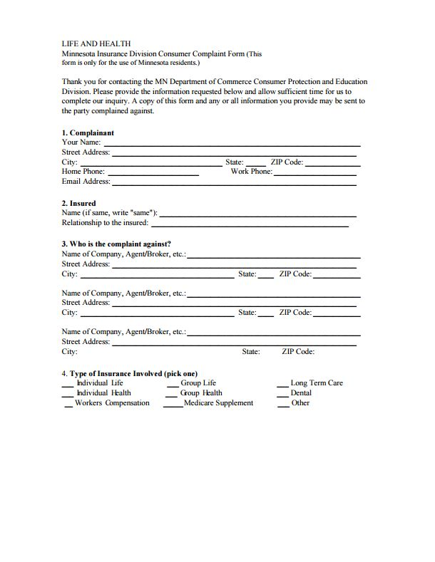 112 best Commissioners Complaint Form By State images on Pinterest - financial declaration form