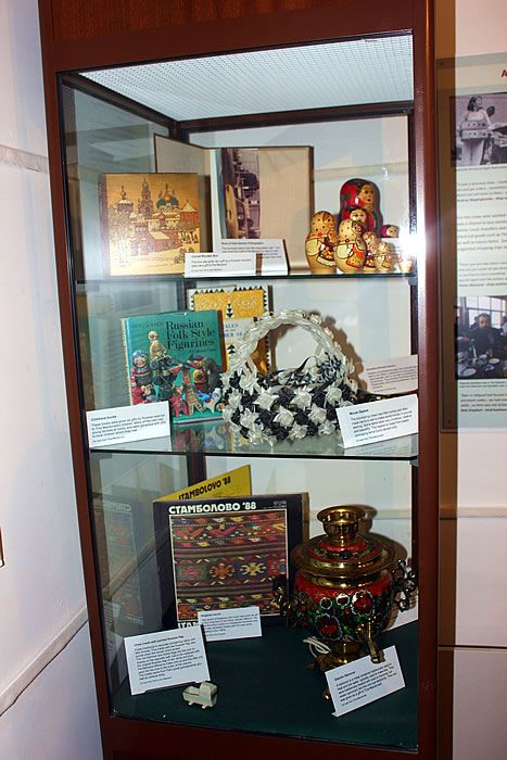 Some of the wonderful objects lent to the exhibition by Ullapool people with memories of the klondykers