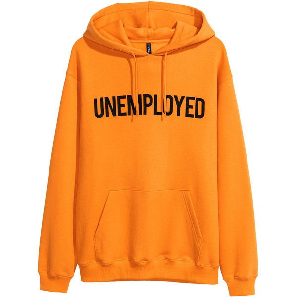 Printed Hooded Shirt $29.99 ($30) ❤ liked on Polyvore featuring tops, hoodies, orange hoodies, long sleeve hooded sweatshirt, orange hoodie, lined hooded sweatshirt and print hoodie