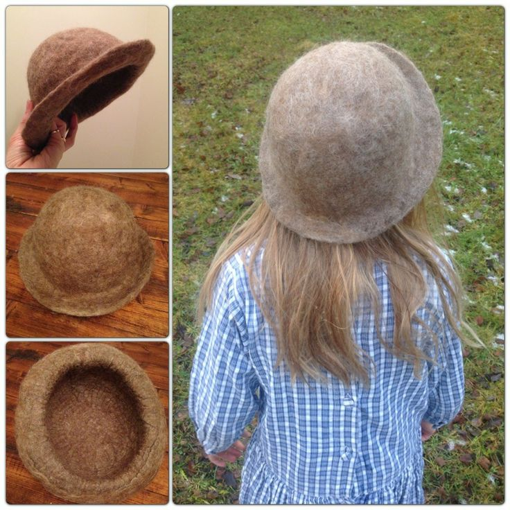 Needle and wet felted hat.