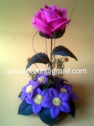 17 best images about flores con moldes goma eva on pinterest navidad videos and amor - Flores sencillas de goma eva ...