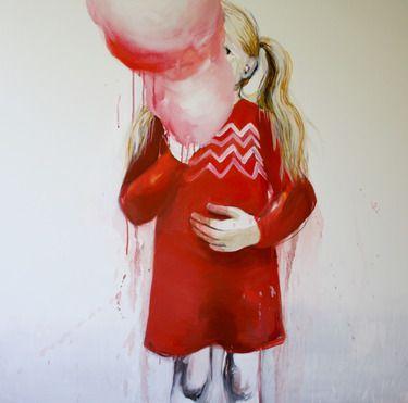 """Saatchi Art Artist Hanna Ilczyszyn; Painting, """"Wata cukrowa (SOLD)"""" #art"""