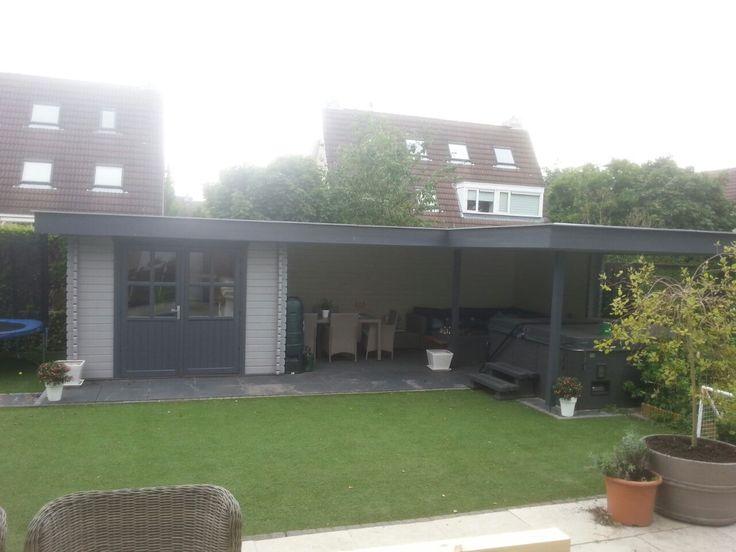 44 best images about tuinhuizen met overkapping tuinhuis met veranda on pinterest models - Moderne hoek lounge ...