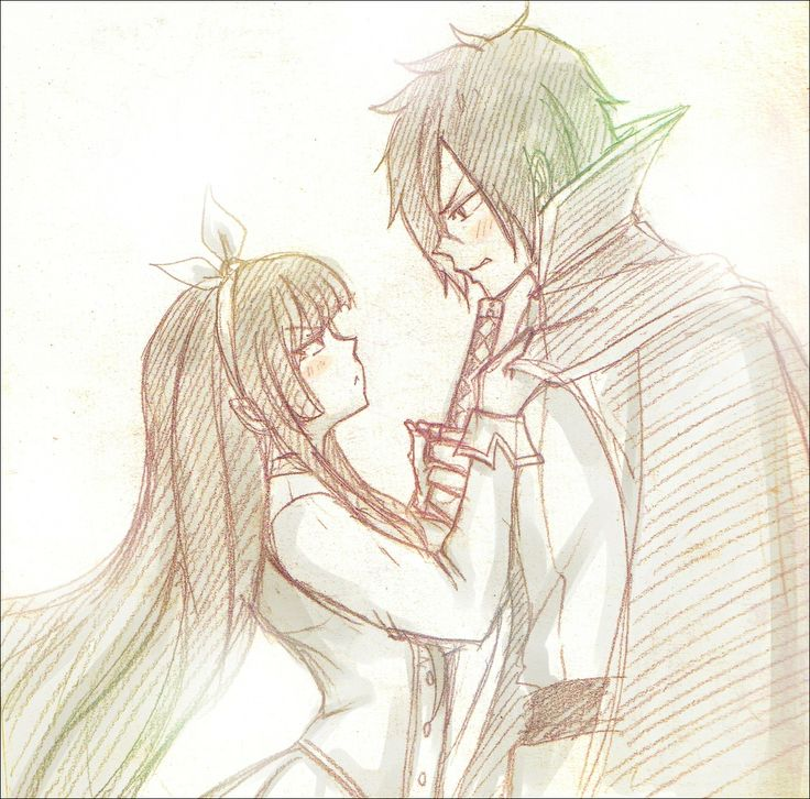 Fairy Tail - Rogue and Kagura I ship them alot! But still, both of them were cold hearted to each other T_T not yet realized that they are meant to be :) <3
