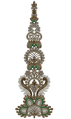 9714 Anarkali Embroidery Design