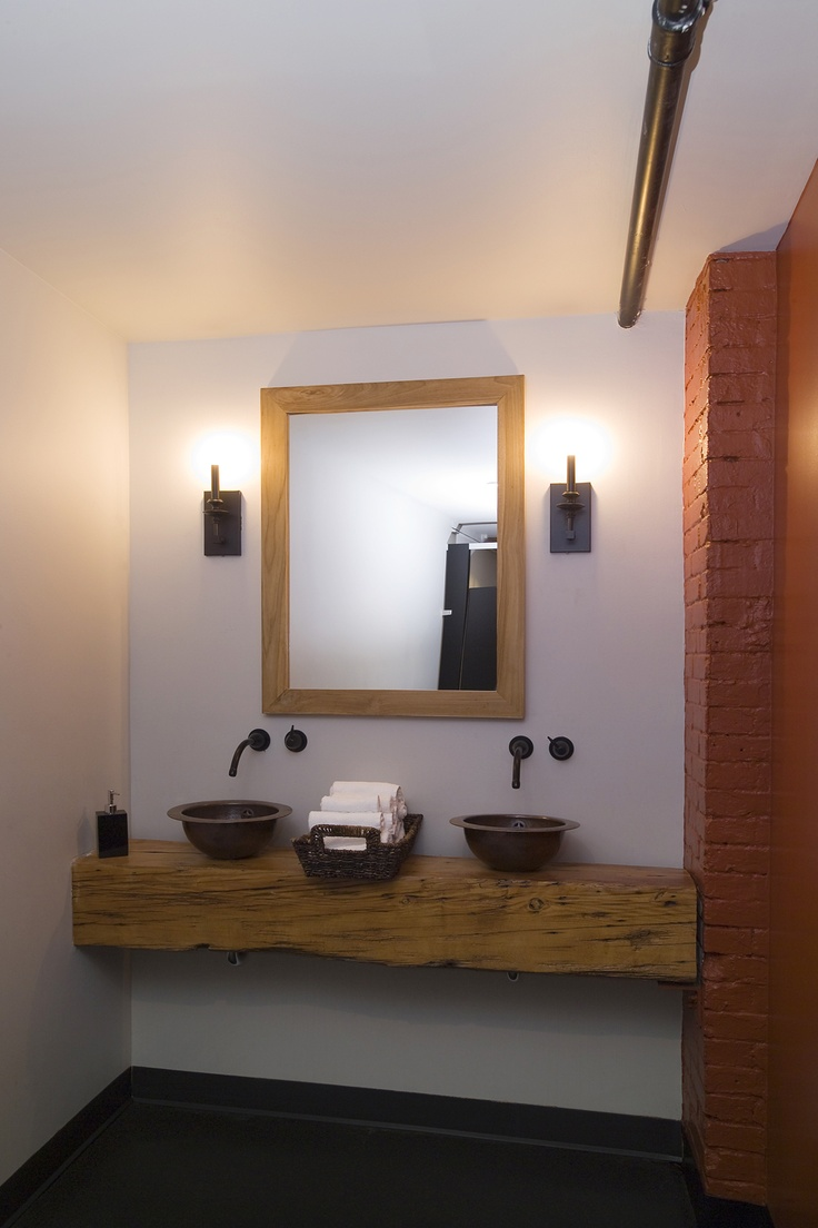 lemaymichaud le local architecture design restaurant eatery double sink - Restaurant Bathroom Design