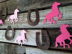 Horse and Horseshoe Party Garland Cowgirl by BlueOakCreations