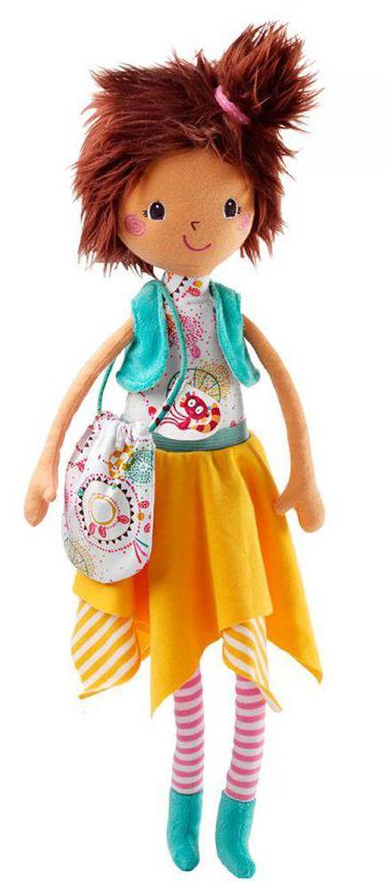 """Мягкая цирковая кукла LILLIPUTIENS """"Мона""""                            Теперь у Вашей малышки появится новая подружка! Забавная кукла Мона с длинными ручками и ножками не позволит крохе заскучать, ведь Мону можно причесывать, делая забавные хвостики, и даже переодевать в платье или юбку!                    Размер: 13,5 х 35см                  Подходит для детей от 1 года                Lilliputiens – это бельгийская компания, где дизайном и проектированием игрушек занимаются молодые мамы…"""