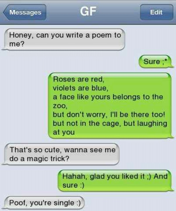 hahahah poof! your single heheheh