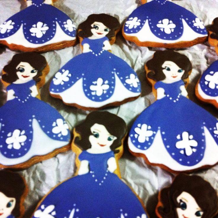 Biscoito princesa Sophia by Vovi's Biscoiteria 51 35882457 ou pedidosvovis@gmail.com