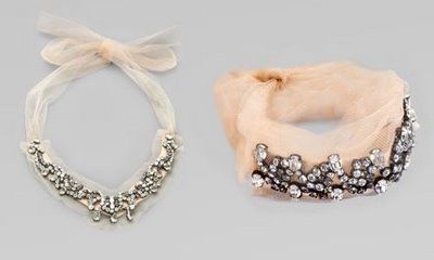 tulle jewelry pieces by Vera Wang
