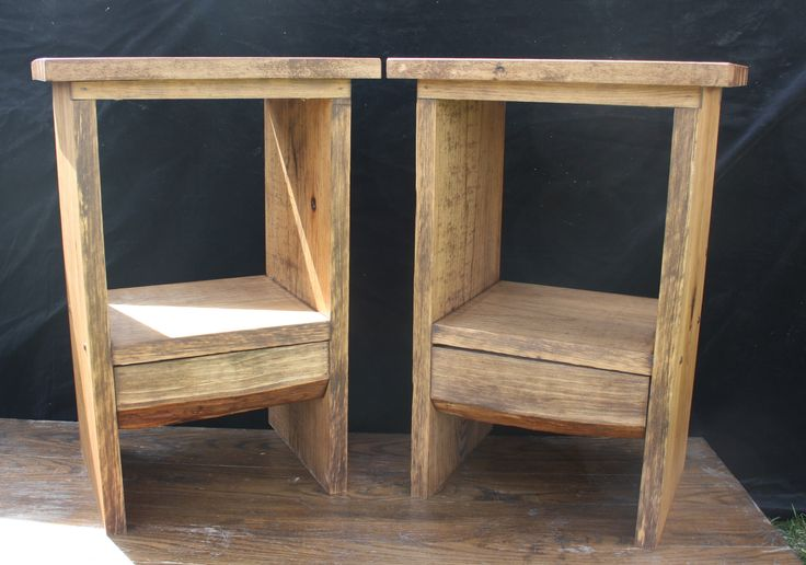 Made of Solid White Pine with re-claimed hardwood tops