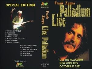 That was yesterday: FRANK ZAPPA: THE COMPLETE LIVE NEW YORK PALLADIUM ...