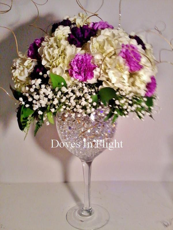 big wine glass wedding centerpieces - Google Search
