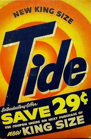 Vintage  Tide Detergent Box - New King Size