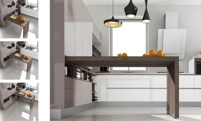 30 ideas de mesas y barras para comer en la cocina   cocinas con ...