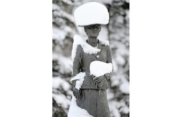 A stylish hat from - How to survive the Edmonton winter: A guide for frigid newbies and frosty vets