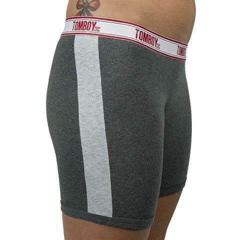 "TomboyX ""Bobbie"" Boxer Briefs for Women - Charcoal Grey"