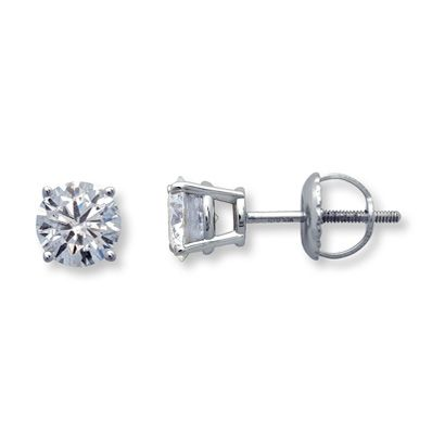 I received these for my 29th wedding anniversary. :) 18K White Gold 1 Carat t.w. Certified Diamond Earrings