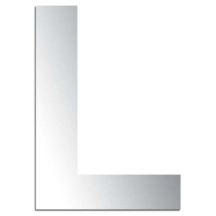Espejo adhesivo letra L mayúscula - 3,2 cm