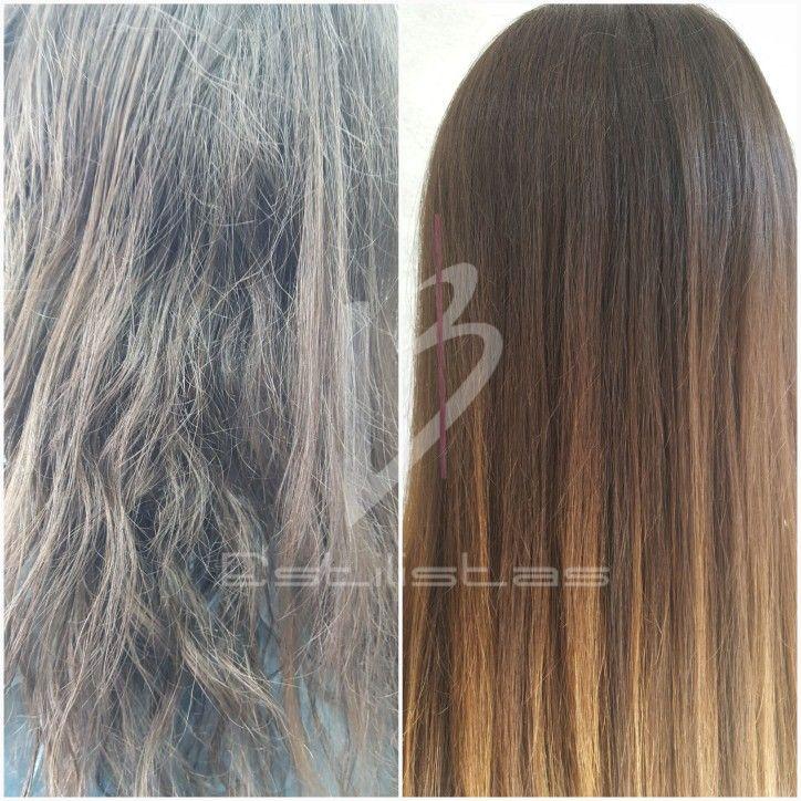 Tratamiento de Queratina Orgánica Cansada de las planchas? Tu cabello necesita un descanso?
