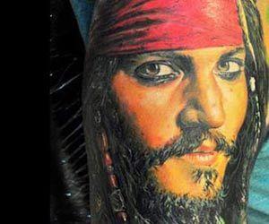Jack sparrow tattoo Dmitriy Samohin