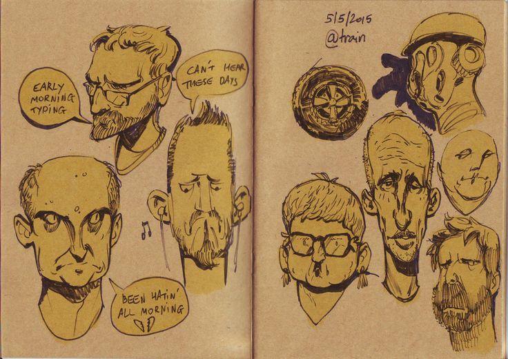 Train Sketches by saltytowel on DeviantArt