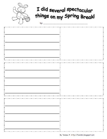 images about spring classroom ideas on pinterest    classroom freebies too  spring break writing