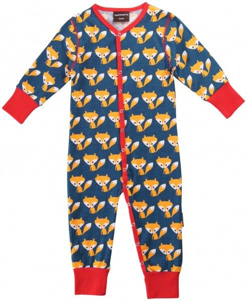 Bon Bon Bleu - Maxomorra Jumpsuit Foxes - Boxpakjes & Speelpakjes - Babykleding