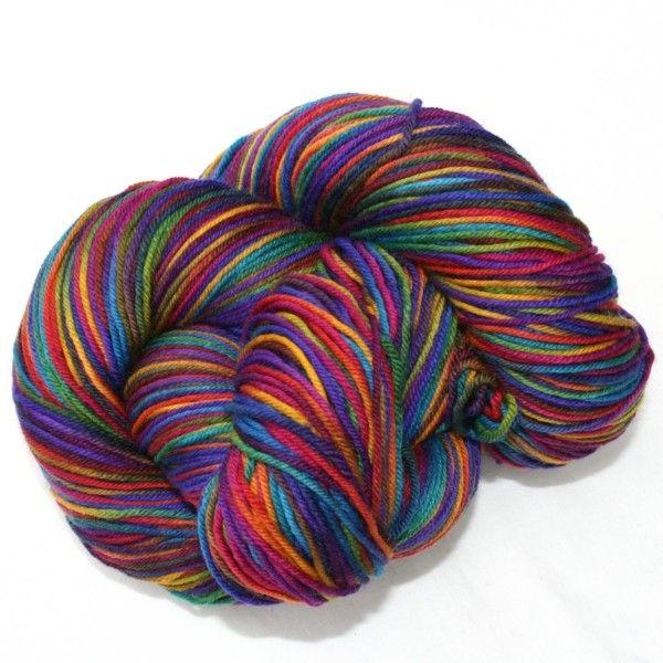 SuperSock - Chocolate Rainbow #abstractfiber #håndfarget #sokkegarn