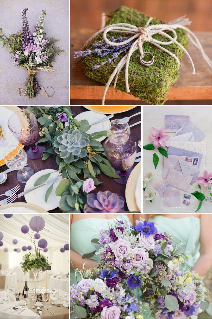 Zöld és levendula | Esküvői színek 2017 - 15 trendi színkombinációt mutatunk a tökéletes esküvői dekorációhoz. Inspirálódj velünk!