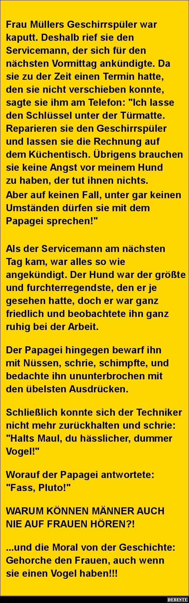 Frau Müllers Geschirrspüler war kaputt.. | Lustige Bilder, Sprüche, Witze, echt lustig