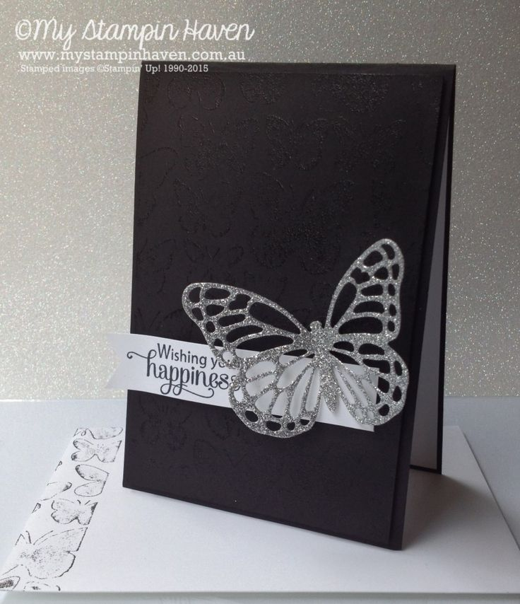 Blessed By God, Fluttering embossing folder stamped background technique wedding card #MyStampinHaven #StampinUp