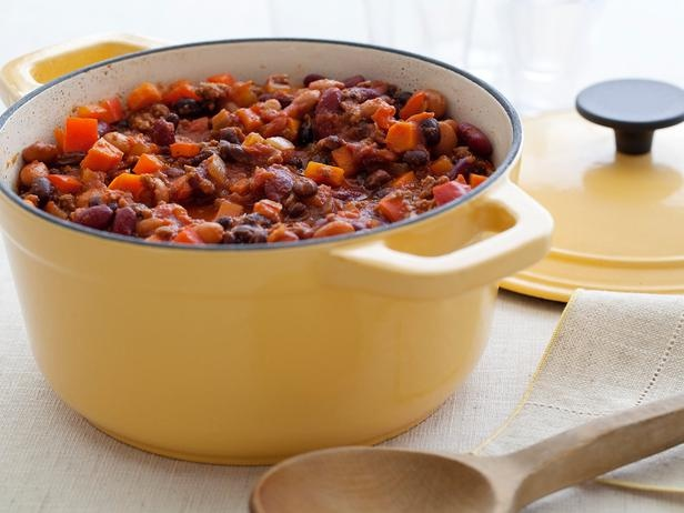 Three Bean and Beef Chili from FoodNetwork.com